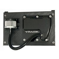 Trask Performance TP-TM-2041BK CheckM8 Vented Transmission Top Cover Black for Milwaukee-Eight 17-Up