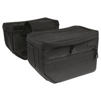 Thrashin Supply TS-TSB-0003 Escape Saddlebags Bag Black