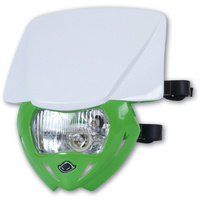 UFO Panther Headlight Green Base/White Upper
