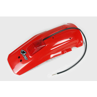 UFO Rear Fender w/Tailight Red (XR 00-06) for Honda XR600 88-02