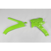 UFO Frame Guards Green for Kawasaki KXF 125/250 94-98