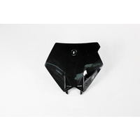 UFO Front Number Plate Black for KTM SX/SX-F 03-06