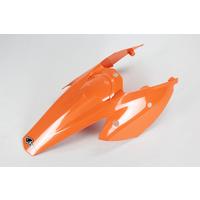 UFO Rear Fender/Side Panels (One-Piece) Orange (98-18) for KTM SX/SX-F 04-06