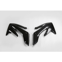 UFO Radiator Shrouds Black for Honda CRF250R-RX 04-09/250X 04-17