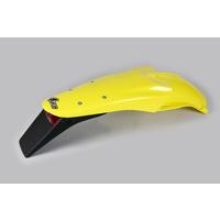 UFO Rear Fender w/Tailight Yellow (01-18) for Suzuki DRZ 400E 00-20