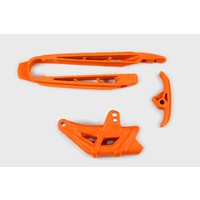 UFO Chain Guide & Swingarm Chain Slider Kit Orange (98-18) for KTM SX/SX-F 07-10/EXC/EXC-F 08-10