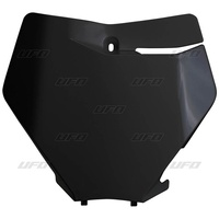 UFO Front Number Plate Black for KTM SX/SX-F 19-20