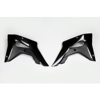 UFO Radiator Shrouds Black for Honda CRF250R-RX 19-20/CRF450R-RX 17-20