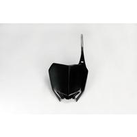UFO Front Number Plate Black for Suzuki RMZ 250 10-18/RMZ 450 18-17