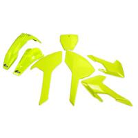 UFO Plastics Kit Fluro Yellow for Husqvarna TC/FC 16-18