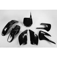UFO Restyle Plastics Kit Black for Kawasaki KX 85 10-13