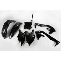 UFO Plastics Kit Black for Kawasaki KXF 450 2018