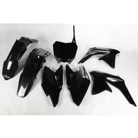 UFO Plastics Kit Black for Suzuki RMZ 450 2008
