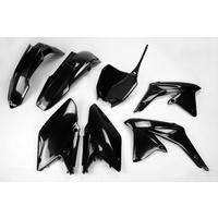UFO Plastics Kit Black for Suzuki RMZ 450 2013