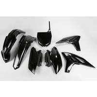 UFO Plastics Kit Black for Yamaha YZF 250 2010