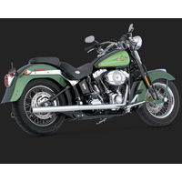 Vance & Hines V16793 Dresser Duals Header Pipes Chrome for Softail 86-11 (86-06 Models Need V16925 O2 Sensor Bungs)