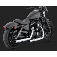 Vance & Hines V16819 Straightshots HS Slip-On Mufflers Chrome for Sportster 04-13