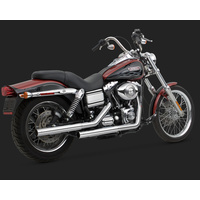 Vance & Hines V16823 Straightshots HS Slip-On Mufflers Chrome for Dyna 91-15 (EXCL FXDF/2010FXDWG)
