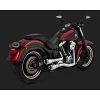 Vance & Hines V16846 Hi-Output Grenades 2-2 Exhaust Chrome w/Chrome End Caps for Softail 86-15