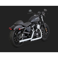 Vance & Hines V16863 Straightshots HS Slip-On Mufflers Chrome for Sportster 14-15