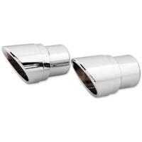 Vance & Hines V16917 Slash Cut Billet End Caps for Big Shots Staggered/Long Exhaust