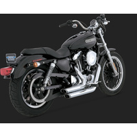 Vance & Hines V17219 Shortshots Staggered Exhaust Chrome for Sportster 04-13 (04-06 Models Need V16925 O2