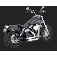 Vance & Hines V17227 Shortshots Staggered Exhaust Chrome for Dyna 12-17 (Excl. Switchback)
