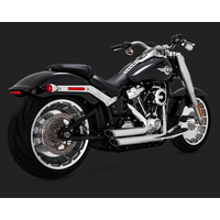 Vance & Hines V17235 Shortshots Staggered Exhaust Chrome for Softail 18 (fits Fatboy & Breakout & FXDR)