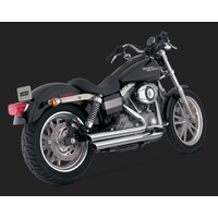 Vance & Hines V17938 Bigshot Staggered Exhaust for Dyna 06-17 (Excludes Switchback)