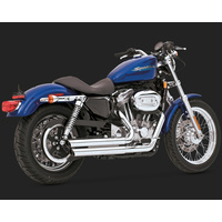Vance & Hines V18005 Double Barrel Exhaust for Sportster 04-13 (04-06 Models Need V16925 O2 SEN) - CC2E