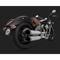 """Vance & Hines V18621 Twin Slash 4"""" Slip-On Mufflers Chrome for Indian Scout 15-16"""