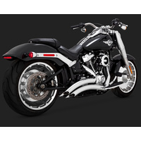 Vance & Hines V26075 Big Radius 2-2 Exhaust Chrome for Softail 2018 (Fits Fatboy/Breakout/FXDR)
