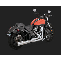 Vance & Hines V27521 Stainless Hi-Output 2-1 Exhaust for Softail 86-15 (86-06 Models Need V16925 O2 - CC2SL