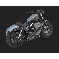 Vance & Hines V46035 Sideshots Exhaust Black for Sportster 04-13 (04-06 Models Need V16925 O2 Sensor Bungs) - CC2SL
