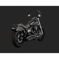 Vance & Hines V46053 Super Radius Exhaust Black for Dyna 06-15 (Excludes Switchback) - CC2SL