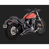 Vance & Hines V46069 Big Radius 2:2 Exhaust Black for Softail 86-11 (86-06 Models Need V16925 O2 Sensor Bungs)