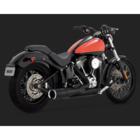 Vance & Hines V46543 Hi-Output 2-1 Short Exhaust Black for Softail 86-17 (Excludes Rocker/CVO 09 & FXSB/FXSE)