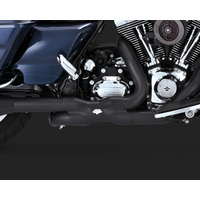 Vance & Hines V46832 Power Duals Header Pipes Black for Touring 09-16 (OLD V46849)