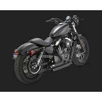 Vance & Hines V47219 Shortshots Staggered Exhaust Black for Sportster 04-13 04-06 Models Need V16925