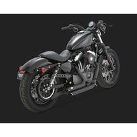 Vance & Hines V47219 Shortshots Staggered Exhaust Black for Sportster 04-13 04-06 Models Need V16925