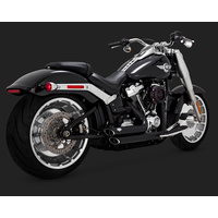 Vance & Hines V47235 Shortshots Staggered Exhaust Black for Softail 18 (fits Fatboy & Breakout & FXDR)