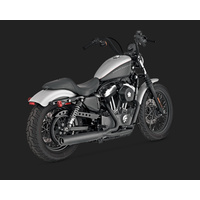 Vance & Hines V47501 Blackout 2-1 Exhaust for Sportster 04-13 (04-06 Models Need V16925 O2 Sensor Bungs)