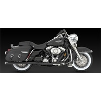 Vance & Hines V47925 Bigshots Duals Exhaust Black for Touring 07-08