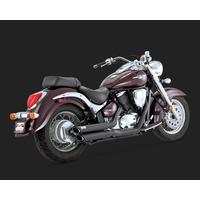 Vance & Hines V48293 Twin Slash Staggered Exhaust Black for Suzuki C50/M50 01-09
