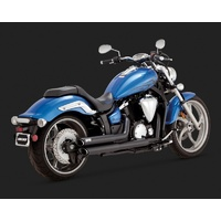Vance & Hines V48501 Twin Slash Staggered Exhaust Black for Yamaha Stryker 1300 2011-2015