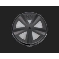 Vance & Hines V71019 VO2 Naked Air Filter Cover Skullcap Crown Black