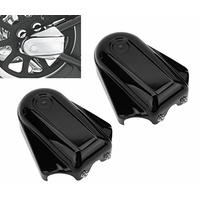 Axle Cover Kit High Quality ABS Plastic Softail Models 08-17 Heritage Classic Deluxe Black
