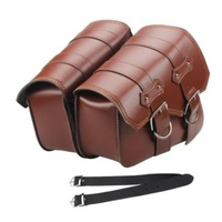 Saddlebags Universal Brown / Tan Throw Over Style 29cm L x 11cm W x 16cm H (Top 25cm) suit Most Models Harley Sportater Softail Dyna