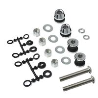 Backrest Mounting Hardware suit Dyna Models W-BR207 Series Sissy Bar Kits (Sold Saseparatel to The Kits)