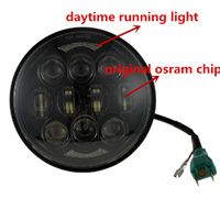 Headlight 80w LED Daymarker Style Black Face Suit Most Dyna Sportster Softail & Street 500 Models + Some Trumph Models+ Ext Warranty